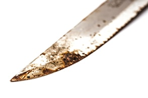rusted knife - How to Clean a Knife - Proper Knife Care - professionalbutcherknives.com