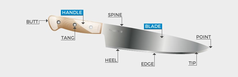 knife anatomy - professionalbutcherknives.com