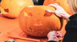 Pumpkin Cutting for Halloween