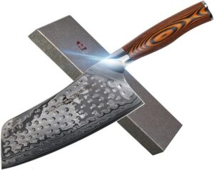 TUO Cutlery Damascus Steel Chinese Chef's Cleaver for Vegetables and Meat